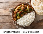chicken do pyaaza cooked in a... | Shutterstock . vector #1191487885