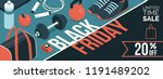 black friday promotional sale... | Shutterstock .eps vector #1191489202