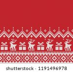 christmas and new year design.... | Shutterstock .eps vector #1191496978
