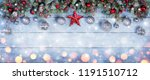 christmas baubles with star in... | Shutterstock . vector #1191510712