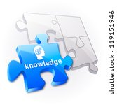 knowledge puzzle concept. | Shutterstock .eps vector #119151946