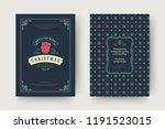 christmas greeting card design... | Shutterstock .eps vector #1191523015
