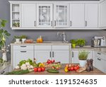 Stock photo cooking in the kitchen 1191524635