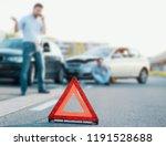 man calling first aid after a... | Shutterstock . vector #1191528688