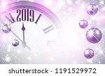 lilac shiny 2019 new year... | Shutterstock .eps vector #1191529972