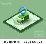isometry city map navigation... | Shutterstock . vector #1191533725
