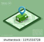 isometry city map navigation... | Shutterstock . vector #1191533728