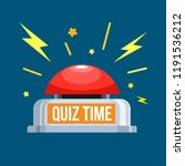 quiz red button. vector... | Shutterstock .eps vector #1191536212