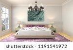 bedroom interior. 3d... | Shutterstock . vector #1191541972