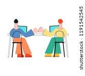coworking communication vector... | Shutterstock .eps vector #1191542545