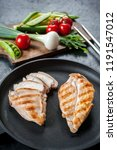 grilled chicken fillet on... | Shutterstock . vector #1191547012