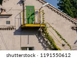 fire escape staircase on... | Shutterstock . vector #1191550612