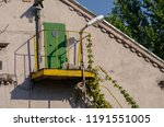 fire escape staircase on... | Shutterstock . vector #1191551005
