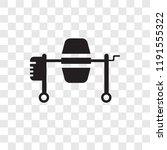 concrete mixer vector icon... | Shutterstock .eps vector #1191555322