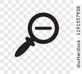 zoom out vector icon isolated... | Shutterstock .eps vector #1191557938