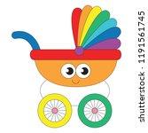 baby stroller toy transport... | Shutterstock .eps vector #1191561745
