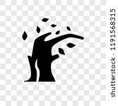 wind bending tree vector icon... | Shutterstock .eps vector #1191568315