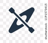 kayak vector icon isolated on... | Shutterstock .eps vector #1191573415