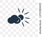 cloudy day vector icon isolated ... | Shutterstock .eps vector #1191583435