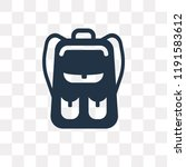 book bag with pockets vector...   Shutterstock .eps vector #1191583612