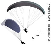 Paraglider Hovers Over The...