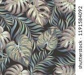 seamless tropical pattern... | Shutterstock .eps vector #1191584092