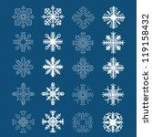 set of snowflakes. vector... | Shutterstock .eps vector #119158432