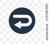 turn left vector icon isolated... | Shutterstock .eps vector #1191587092