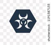 biological hazard vector icon... | Shutterstock .eps vector #1191587155