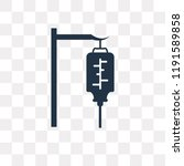 blood transfusion vector icon... | Shutterstock .eps vector #1191589858