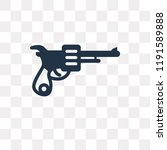 revolver vector icon isolated... | Shutterstock .eps vector #1191589888