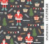 christmas seamless pattern.... | Shutterstock .eps vector #1191598168
