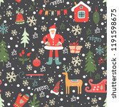 christmas seamless pattern.... | Shutterstock .eps vector #1191598675