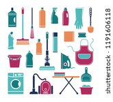 icons of accessories and means...   Shutterstock .eps vector #1191606118