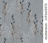 vector floral seamless pattern... | Shutterstock .eps vector #1191610372