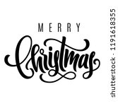 holiday hand lettering merry... | Shutterstock .eps vector #1191618355