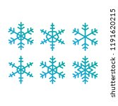 Set Of Vector Snowflakes....
