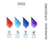 business data visualization.... | Shutterstock .eps vector #1191621862