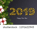 holiday new year 2019 card with ... | Shutterstock .eps vector #1191622945