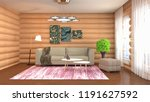 interior of the living room. 3d ...   Shutterstock . vector #1191627592