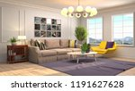interior of the living room. 3d ... | Shutterstock . vector #1191627628