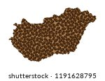 hungary    map of coffee bean ...   Shutterstock .eps vector #1191628795