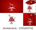 29 ekim cumhuriyet bayrami day... | Shutterstock .eps vector #1191633742