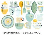 collection of decorative... | Shutterstock .eps vector #1191637972