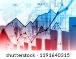 stock market or forex trading... | Shutterstock . vector #1191640315