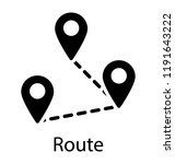 a location pin over a map...   Shutterstock .eps vector #1191643222