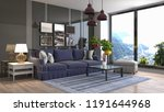 interior of the living room. 3d ... | Shutterstock . vector #1191644968