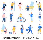 set of people in different... | Shutterstock .eps vector #1191645262