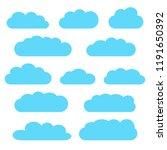 cloud icon set  blue clouds... | Shutterstock .eps vector #1191650392