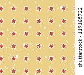 red stars grunge vintage... | Shutterstock .eps vector #119165722